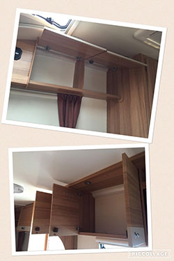 The inside of caravan cupboards cleaned up
