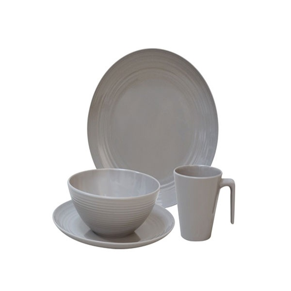 Flamefield Seramika Latte 16 Piece Melamine Dinner Set F-SLA0116